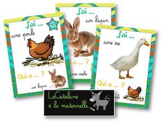 "LaCatalane in kindergarten …: ""I … who has …?"" : farm animals by katiakorchia Animals For Kids, Farm Animals, Animals And Pets, Funny Animals, Cute Animals, Majestic Animals, Animals Beautiful, Web Animal, Animal Mashups"
