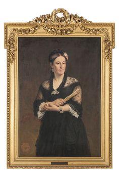 «Portrait d'Alexandrine Grandjean»Jules Richomme 1887Huile sur toileCollection Grandjean, 1923inv. GR 844