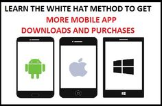 Learn new HQ Whitehat method to Get More @downloads and @purchases on your @Mobile @App.