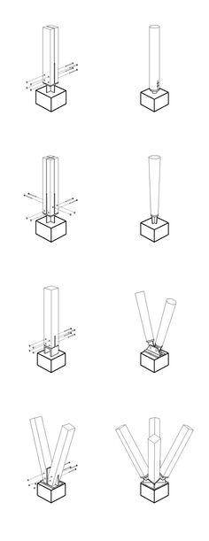 钢木结构景观构筑物的细部设计形式举例