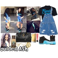 Popular Demand Gamma Blue YSL, created by fashionsetstyler on Polyvore