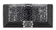 The Beautiful Bags of Chanel Spring 2014 Pre-Collection -Chanel Python Boy Flap Clutch