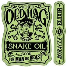 Snake Oil Label Cling Stamps 725718028503
