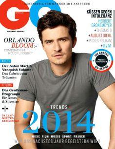 Orlando Bloom - GQ Magazine Cover [Germany] (January 2014)