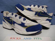 the latest 42ecc b8f6d Vtg OG 1997 Nike Apprentice White Atlantic Blue Antifreeze sz 10.5  102042-141 Nike