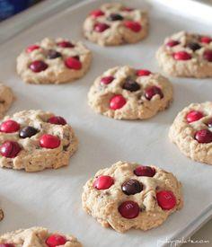 Cinnamon M&M Oatmeal Chocolate chip cookies