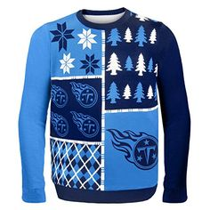 NFL Tennessee Titans Busy Block Ugly Christmas Sweater