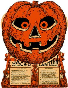 1920s Beistle Halloween Jack O'Lantern Fortune Game by halloween_guy, via Flickr
