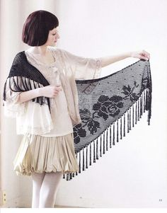 lace shawl for women, free crochet patterns - crafts ideas - crafts for kids