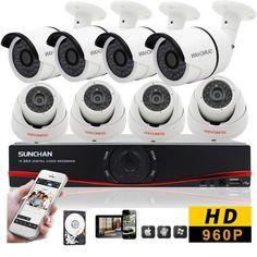 8CH Home Security CCTV Kits 960P Indoor Outdoor 1080N HDMI DVR 8 CCTV Camera 1TB #SUNCHAN