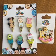 You guys, these ice cream #tsumtsum pins from Hong Kong Disneyland are CUTE.