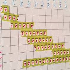 washi tape chart to