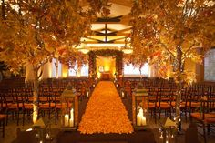 creative photo ideas on fall wedding aisle decorations wedwebtalks fall wedding ideas 630x420