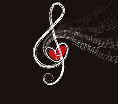 Image detail for -music,note,heart,red,rhythm,pattern,