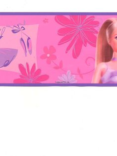 Pink Barbie Wallpaper from AmericanBlinds.com for your daughter's bedroom #girlsroom