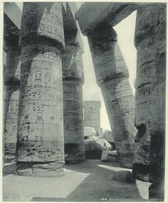 Rare Photos of Egypt from the 1870s. Karnak: The Grand Temple. Photograph via The New York Public Library Digital Gallery