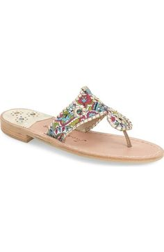 b4838e3e49cd2b Jack Rogers  Dania  Sandal (Women) available at  Nordstrom Metallic Sandals