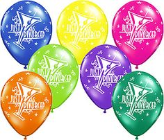 Divorce Balloons - Just Divorced Party Balloons - Divoce Party