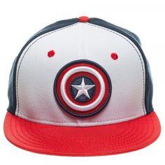 Hat Cap Licensed Marvel Comics Punisher Big Skull Flat Bill White Outline CC