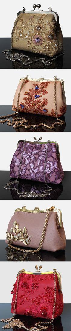 Embroidered Evening Handbags | Вечерние сумочки с вышивкой — Купить, заказать, сумка, вечерняя сумка, театральная сумка, клатч, вышивка, ручная работа