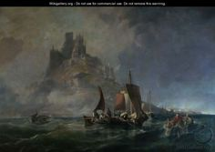 """""""St.Michael's Mount"""" oil on Canvas. George Chambers"""