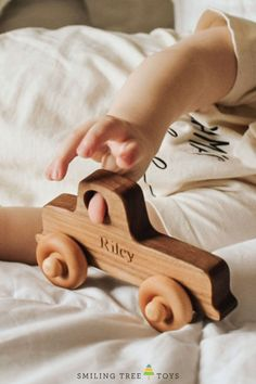 Smiling Tree Toys Old School Trucks are handmade in the USA from sustainable woods and can be personalized with child's name. Toy Trucks, Toddler Gifts, Organic Oil, Wood Toys, Old School, Special Gifts, Woods, Usa, Handmade