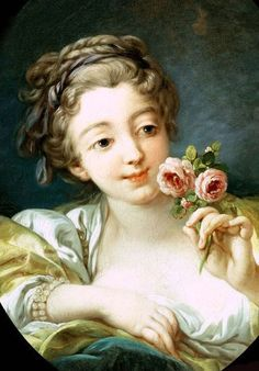 ♔ 'Girl with Roses' ~ 1760-1769 ~ by Francois-Boucher