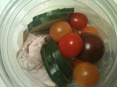 Applegate Farms turkey with some cucumbers and tomatoes from our garden
