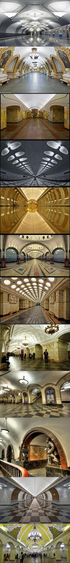 """Bucket list No 5 visit Moscow and ride the metro to all the stations described in the """"Metro 2033"""" story. And also enjoy the beauty of those stations!"""