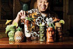 This Jungle Bird recipe combines a delicious mix of dark rum, Campari and fruit juices. Tiki Art, Tiki Tiki, Backyard Bar, Backyard Ideas, Landscaping Ideas, Tiki Lounge, Bar Lounge, Tiki Bar Decor, Tiki Room