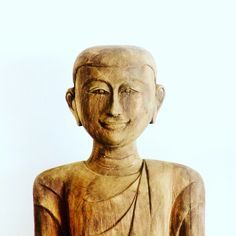 Wooden monk from villa 2 - Samui Turquoise Villas for rent #samuiturquoisevillas