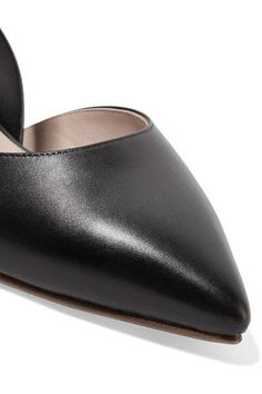 Monse - Buckled Leather Point-toe Flats - Black - IT39