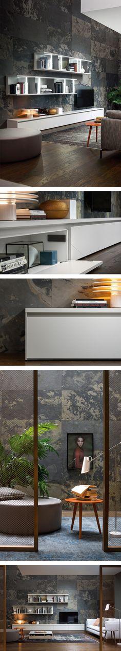 Das Novamobili Reverse Lowboard mit seinem schlichten Design kann individuell gestaltet werden.   #Lowboard #TV #Wohnzimmer #livingroom #Designmöbel #zeitlos #modern #Inspiration #Einrichtungsideen #home #wohnen #Novamobili #Livarea #interiordesign #interiordecorating #skandinavisch #wohnstil #scandinavian