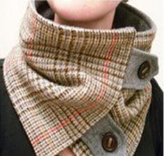 Lots of neck warmer ideas for winter. (No patterns) Neat idea for winter riding, scarves slide off. | followpics.co