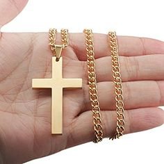 Jstyle kreuz anhänger aus Edelstahl Kreuzanhänger Goldfarbe mit 60cm Halskette für Herren Damen Frauen: Amazon.de: Schmuck
