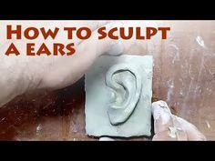 How to sculpt ears? Cardboard Sculpture, Paper Mache Sculpture, Sculpture Projects, Sculpture Art, Ceramic Sculptures, Ceramic Sculpture Figurative, Ceramic Art, Ceramic Mugs, Ceramic Bowls