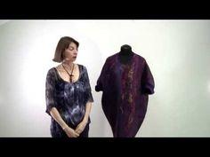 """Фрагменты МК """"Платье объемного силуэта в технике нунофелтинг"""" - YouTube"""