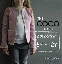 NEW Coco Jacket pattern and tutorial 6-12y holiday jacket coat bolero PDF