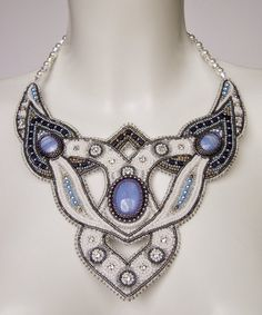 Bead embroidery necklace 3 by Priscillascreations