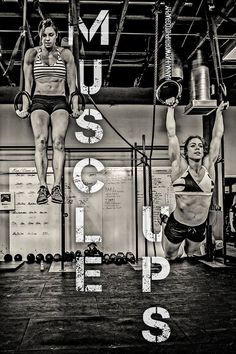 crossfitters:  Julie Foucher and Christy Phillips Adkins....one day I will do this