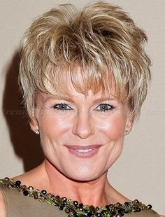 Short Messy Hairstyles With Bangs For Square Faces Women Over 50 With Thin Hair 2016