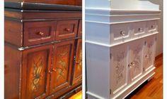 Mueble de recibidor restaurado