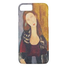 Jeanne Hebuterne portrait by Amedeo Modigliani iPhone 8/7 Case - elegant gifts gift ideas custom presents