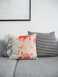 That's a lovely Japanese print pillow.
