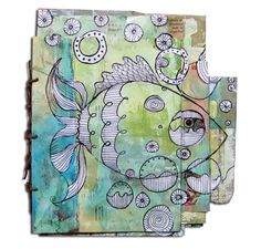 Another online class project with Carla Sonheim . This time we used junk mail to create a book. First we...