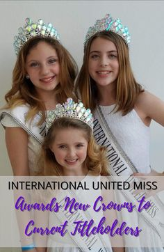 We are loving the NEW CROWNS the International United Miss Queens are rocking! Check them out Pageant Crowns, We Are Love, Pageants, Queens, Awards, The Unit, Check, Inspiration, Biblical Inspiration