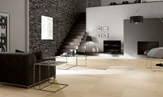 Residential ideas stone wall floor tile stairs