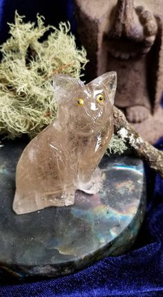 Smoky Quartz cat, Cat carving, Carved cat, Smoky Quartz, Carved crystal, Crystal carving, Cat lover, Gift for cat lover, Gemstone cat, Cat by MagicaLuna on Etsy