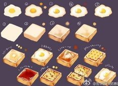 :sweet making: by 海緒ユカ on Pixiv Digital Painting Tutorials, Digital Art Tutorial, Art Tutorials, Food Drawing, Drawing Skills, Drawing Tips, Food Painting, Coloring Tutorial, Art Reference Poses