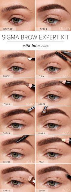 LuLu*s How-To: Sigma Brow Expert Kit Eyebrow Tutorial at LuLus.com!